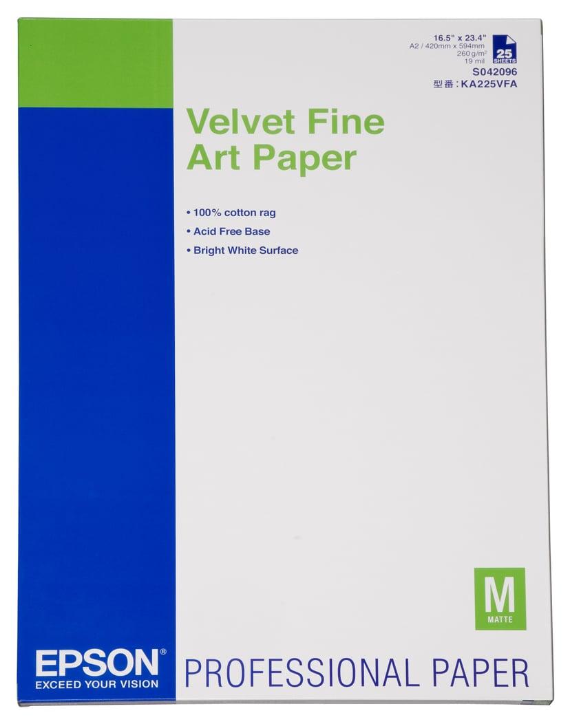 Epson Papper Velvet A2 260g 25 ARK