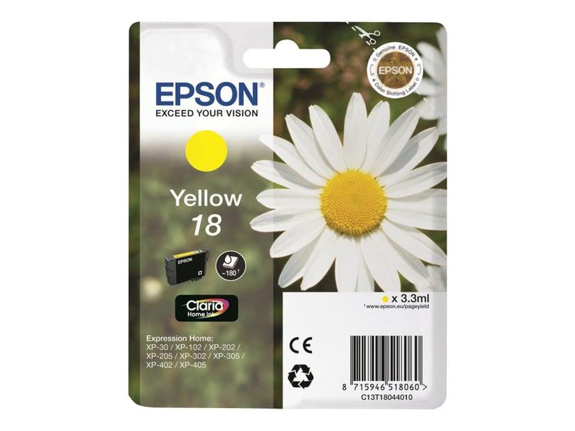 Epson Muste Keltainen T1804 - XP-302