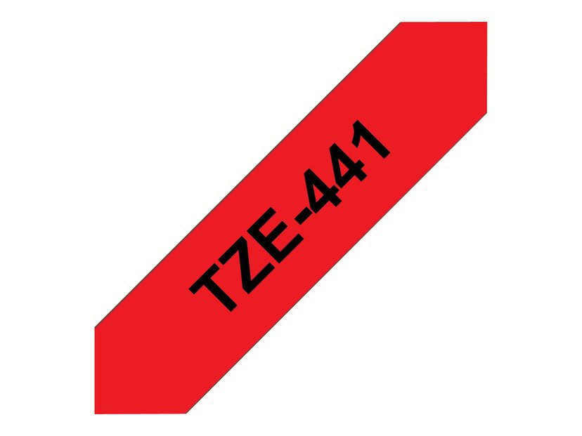Brother Tape TZe-441 18mm Svart/Röd