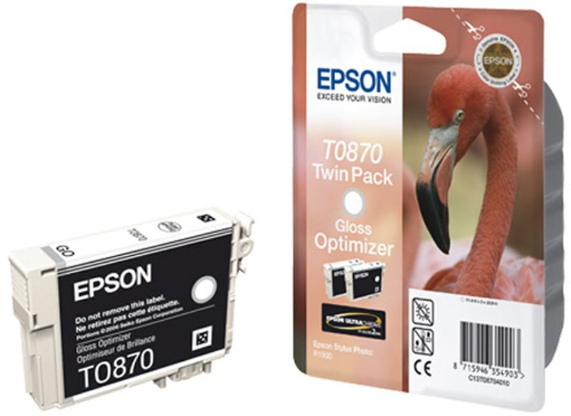 Epson Bläck Gloss Optimizer T0870 - R1900 2-PACK