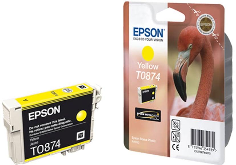 Epson Blæk Gul T0874 - R1900