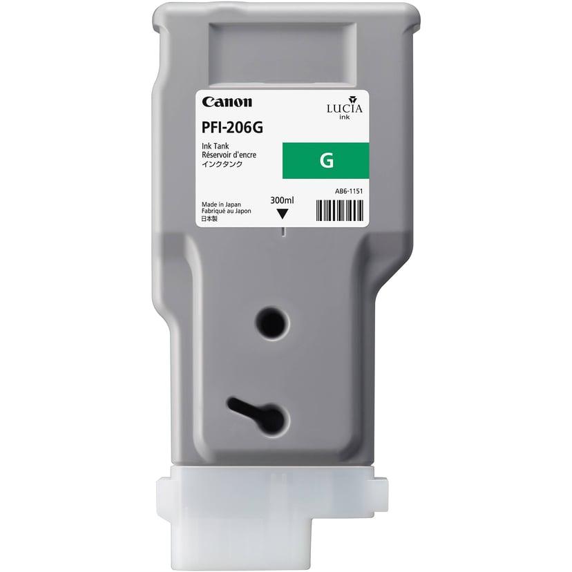 Canon Blekk Grønn PFI-206G