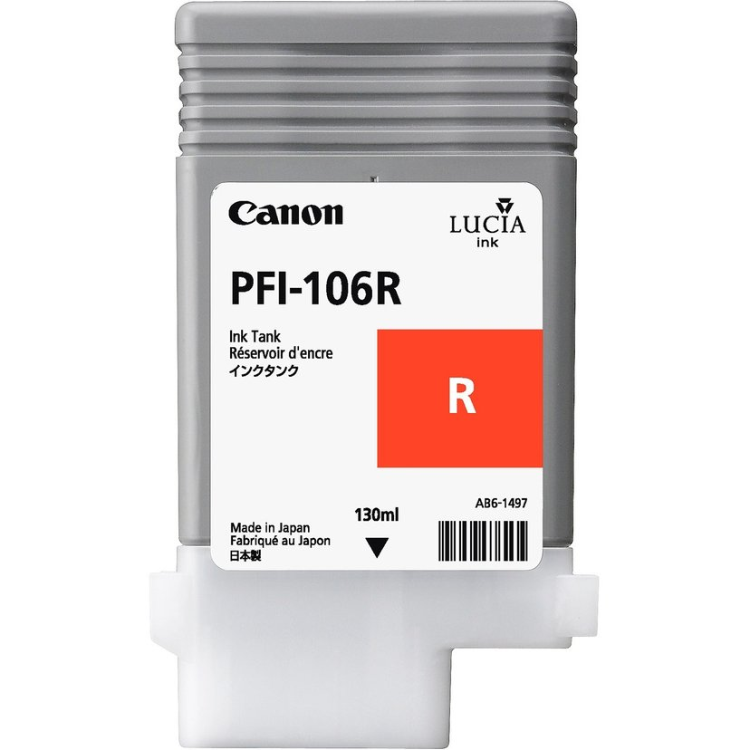 Canon Blæk Rød PFI-106R