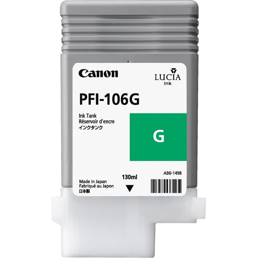 Canon Muste Vihreä PFI-106G