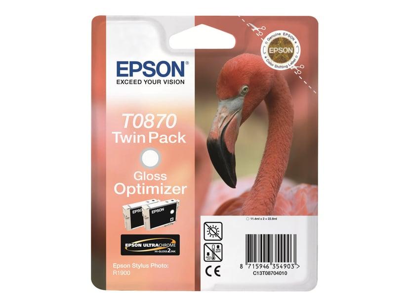 Epson Blekk Gloss Optimizer T0870 - R1900 2-PACK