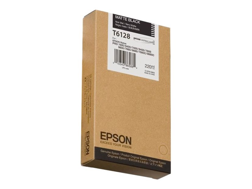 Epson Blekk Matt Svart T6128 220ml