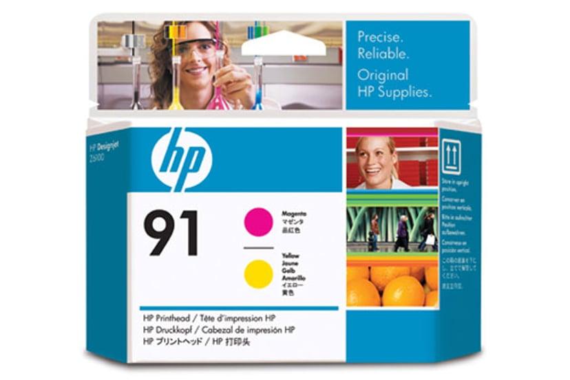 HP Skrivarhuvud NO.91 Magenta/Gul