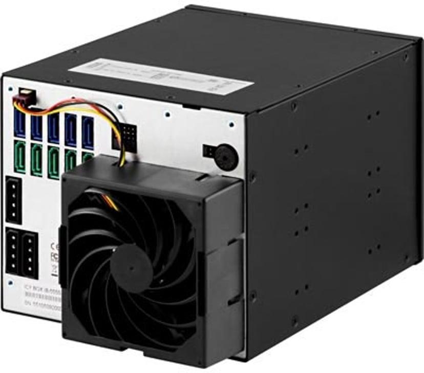 """Raidsonic HD Kassett 3X5.25"""" Till 5X3.5"""" SATA/300 Svart"""
