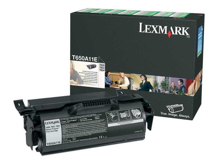 Lexmark Toner Svart T52X/650/652/654 RE - T650A11E