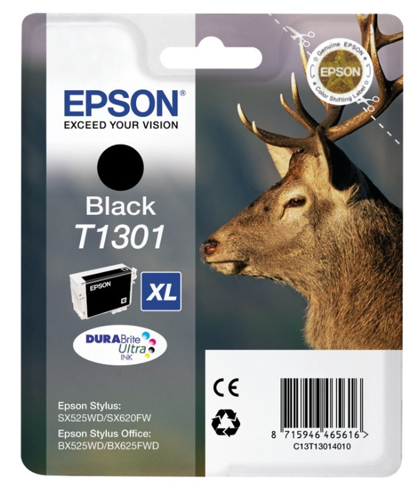 Epson Inkt Zwart T1301 XL - BX320FW/525WD