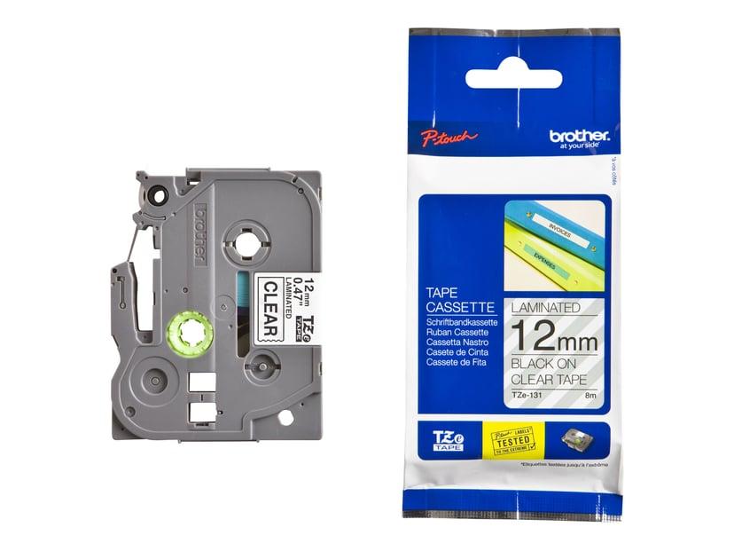 Brother Tape TZe-131 12mm Svart/Transparent