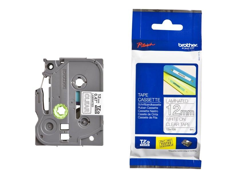 Brother Tape TZe-135 12mm Vit/Transparent