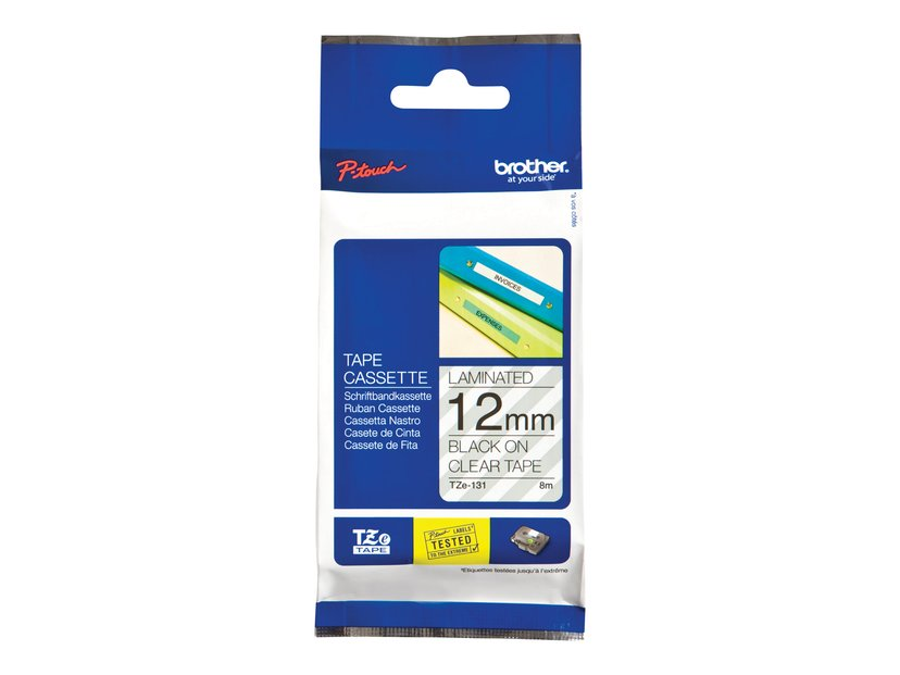 Brother Tape TZe-131 12mm Black/Transparent