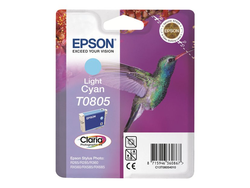 Epson Bläck Ljus Cyan T0805 - R265/360/RX560
