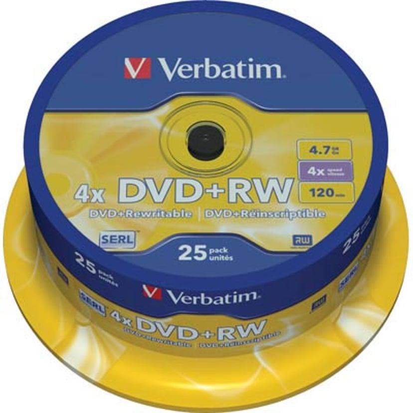 Verbatim 25 x DVD+RW 4.7GB