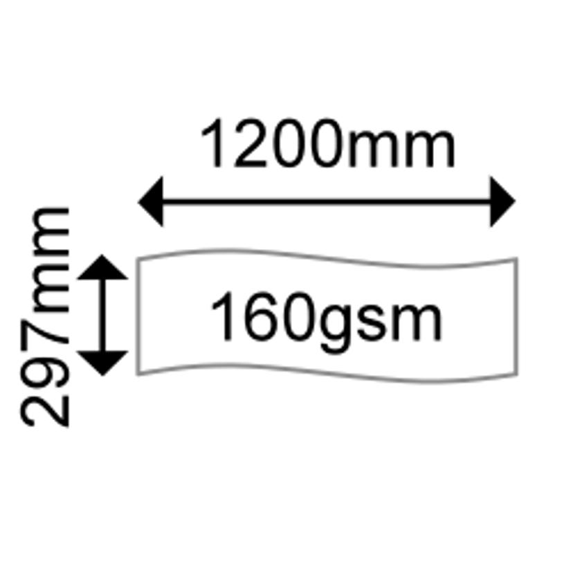 OKI Papir Banderoll A3 297 x 1200mm 160g