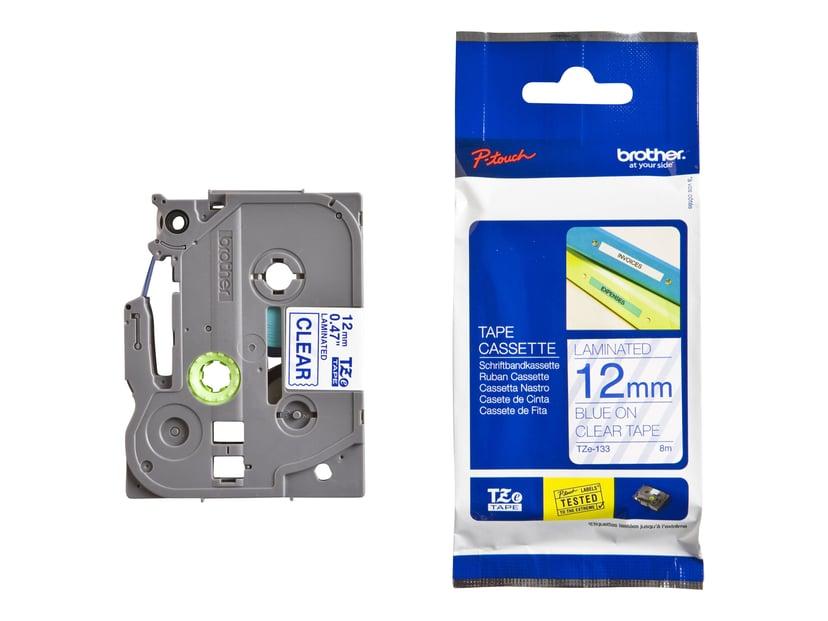 Brother Tape TZE-133 12mm Blå/Transparent