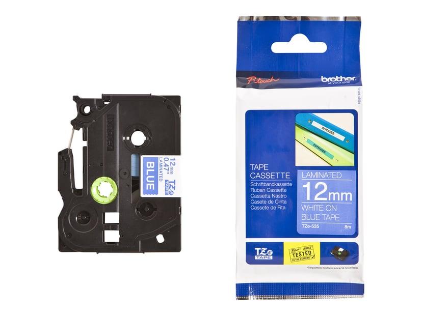Brother Tape TZE-535 12mm Hvid/Blå