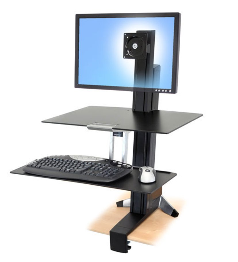 Ergotron WorkFit-S Single HD with Worksurface+