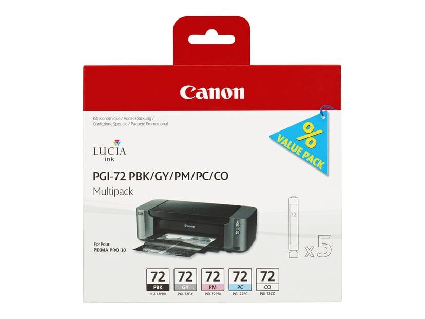 Canon Blæk Multipak PGI-72 (PBK/GY/PM/PC/CO)