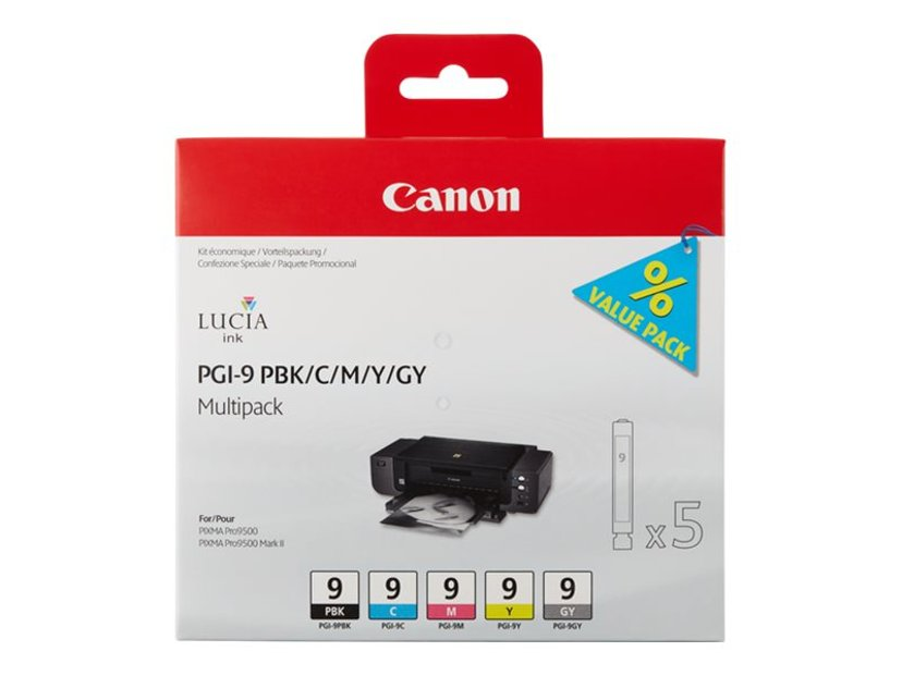 Canon Inkt Multipack PGI-9 (PBK/C/M/Y/GY)