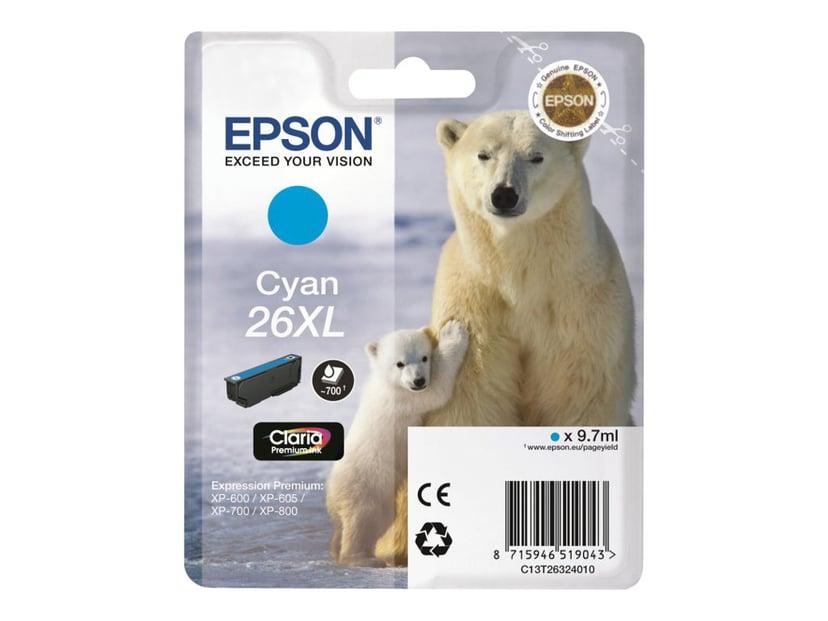Epson Blæk Cyan 26XL Claria Premium