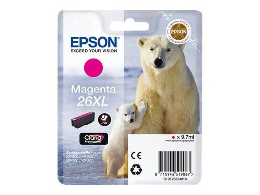 Epson Blæk Magenta 26XL Claria Premium