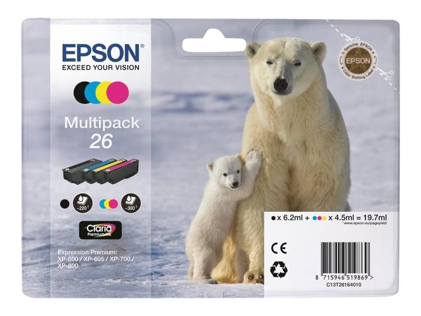Epson Bläck Multipack 4-ColorS 26 Claria Premium