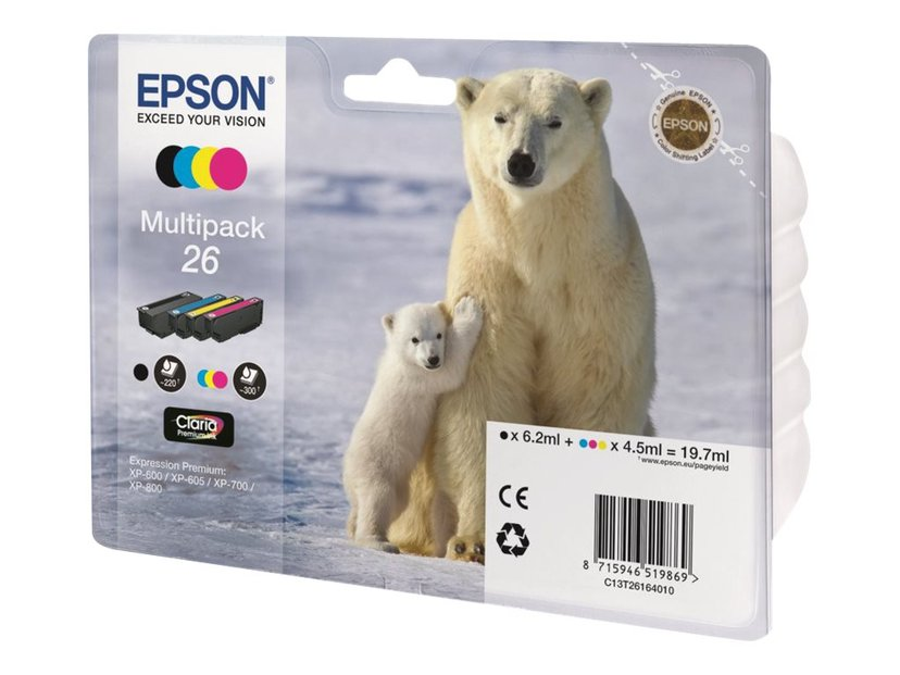 Epson Blæk Multipak 4-ColorS 26 Claria Premium