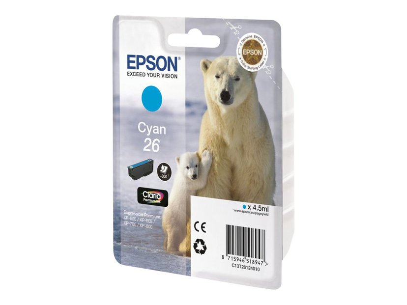 Epson Bläck Cyan 26 Claria Premium