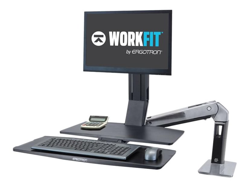 Ergotron WorkFit-A Single LD with Worksurface+