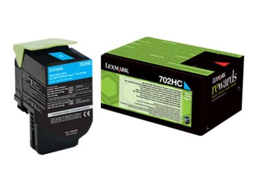 Lexmark Toner Cyaan 702HC 3KC - CS510
