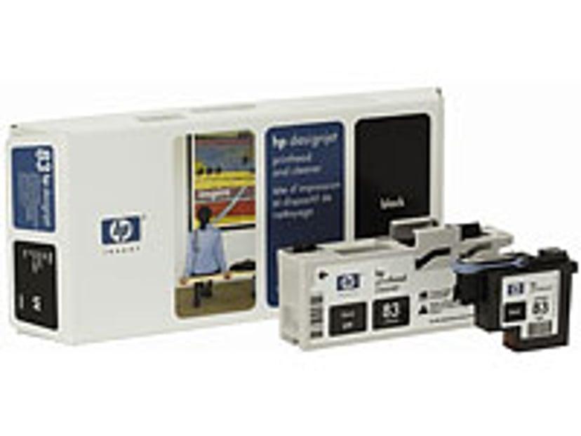 HP Printhead/Cleaner No.83 Musta - DJ5000