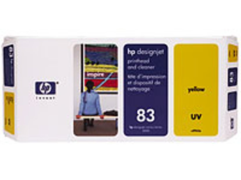 HP Printhead/Cleaner No.83 Keltainen - DJ5000