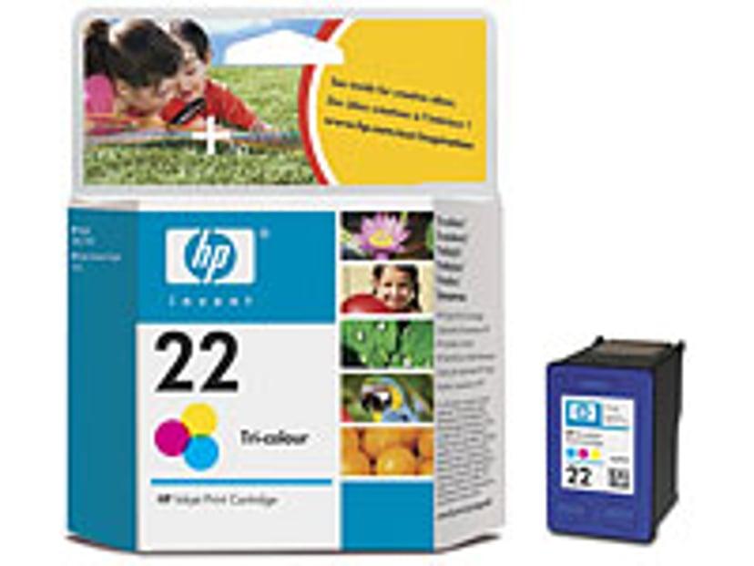 HP Blæk Farve No.22