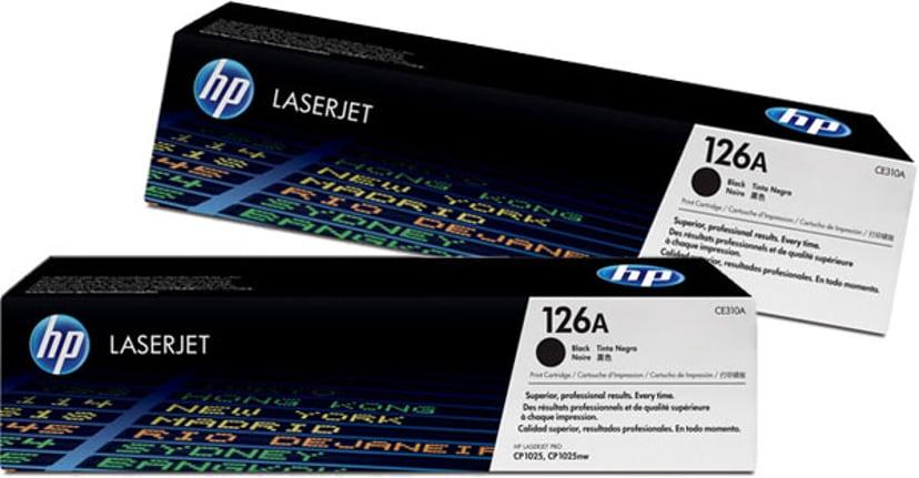 HP Toner Svart 1.2K - CE310AD 2-Pack #ATTACH