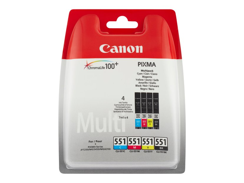 Canon Bläck Multipack CLI-551 (C/M/Y/BK) - MG6450