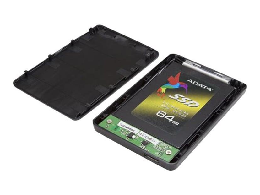 "Startech 2.5in USB 3.0 External SATA III SSD / HDD Hard Drive Enclosure with UASP USB 3.0 Svart 2.5"""