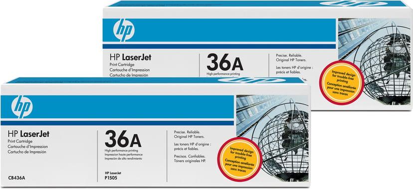HP Toner Sort 36A 2K - CB436AD 2-Pack