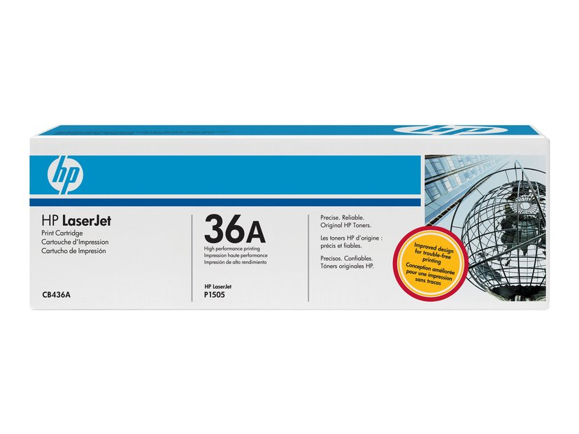 HP Toner Svart 36A 2K - CB436AD 2-Pack