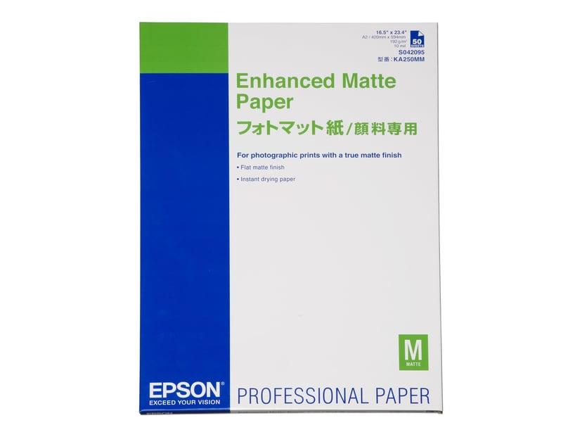 Epson Papir Enhanced Mattert A2 50-Ark 192g