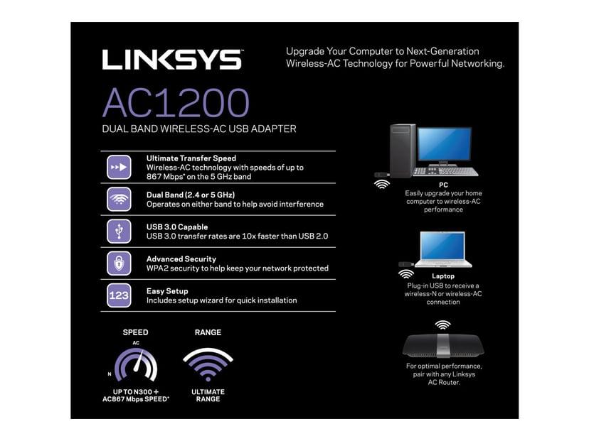 Linksys WUSB6300 AC1200 USB Adapter
