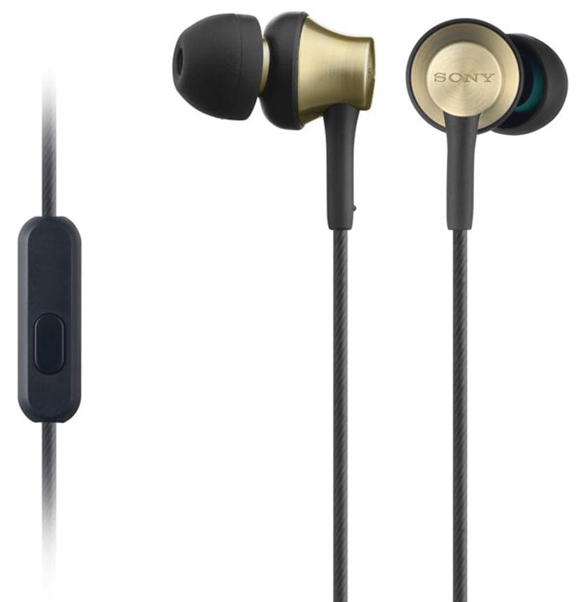 Sony MDR EX650AP In-Ear hodetelefoner med mikrofon Svart