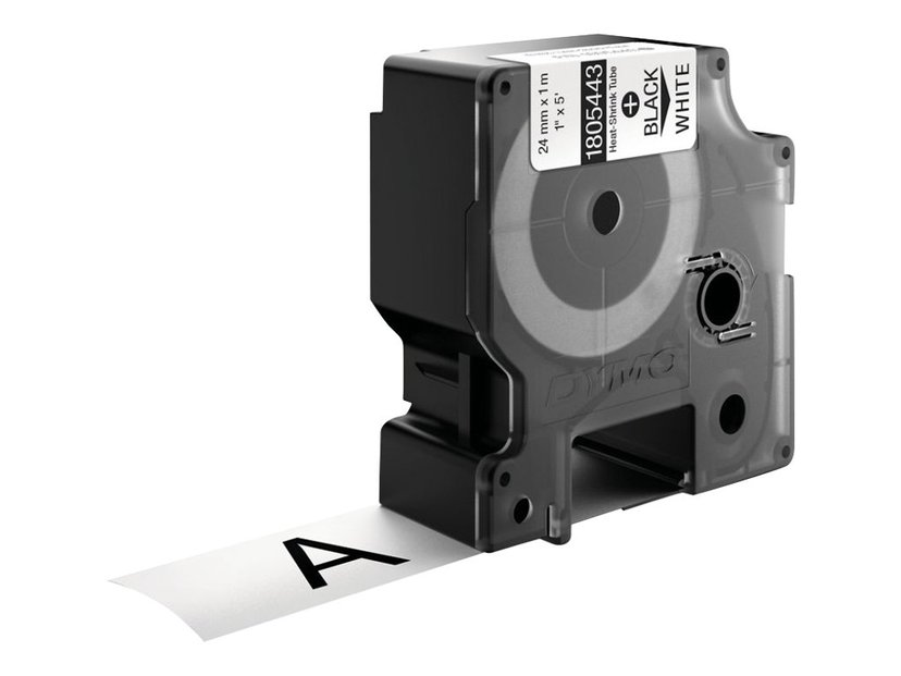 Dymo Tape RhinoPRO Heat Shrink 24mm Svart/Hvit