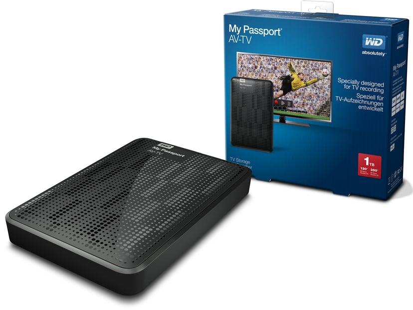 WD My Passport AV-TV 1TB Sort