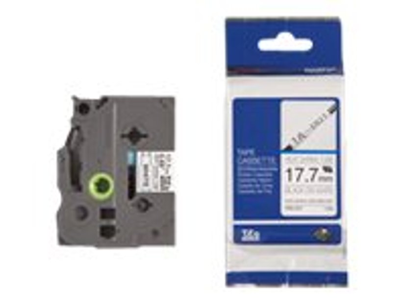 Brother Tape Krympslang HSE-241 17,7mm Svart/Vit