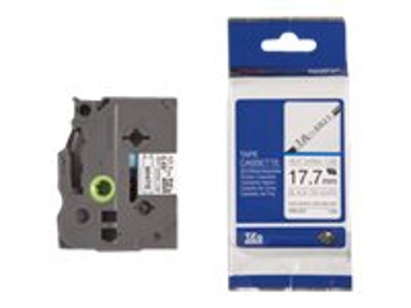 Brother Tape SHRINK HSE-241 17,7mm Svart/Hvit