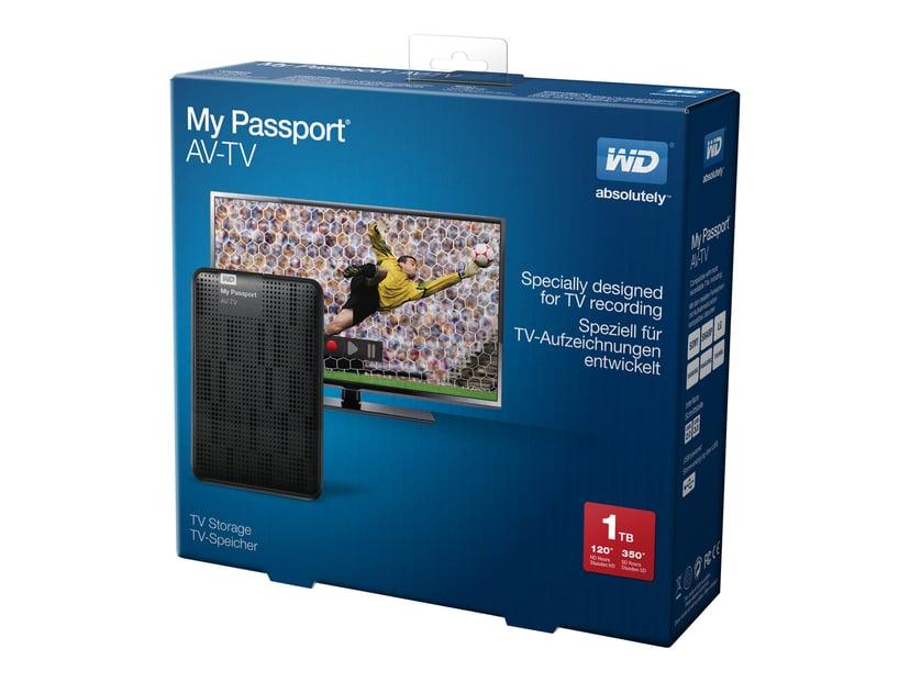WD My Passport AV-TV 1TB Svart