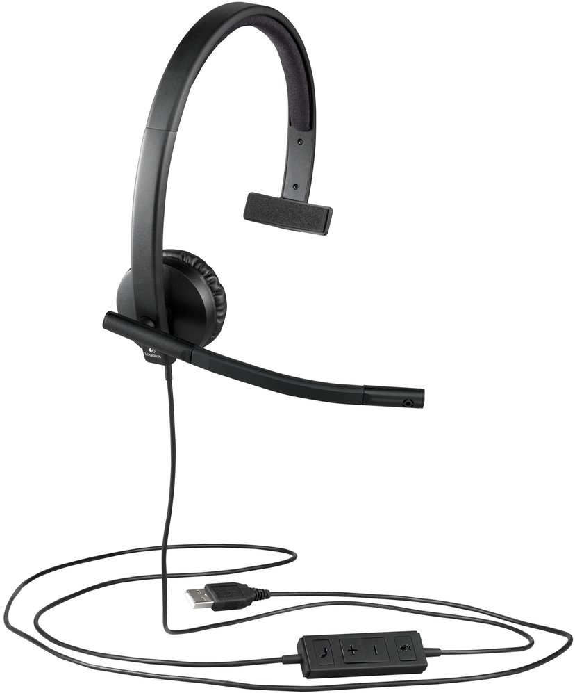 Logitech USB Headset H570e Mono Zwart