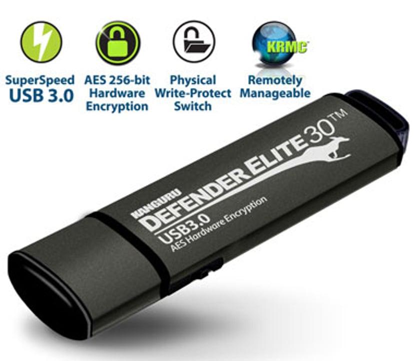Kanguru Defender Elite30 128GB USB 3.0 256 bitars AES